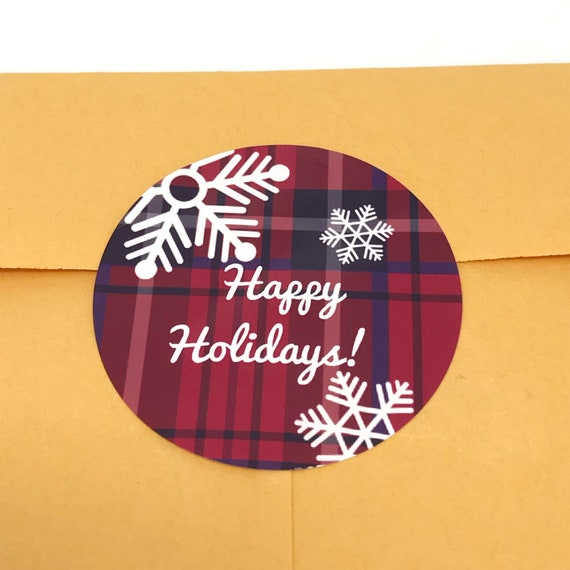 snowflake stickers Modern Christmas stickers christmas card seals festive holiday stickers etsy seller packaging gift tag stickers
