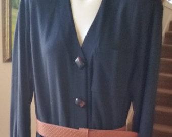 a3004b188 Vintage Chetta B black button down Dress