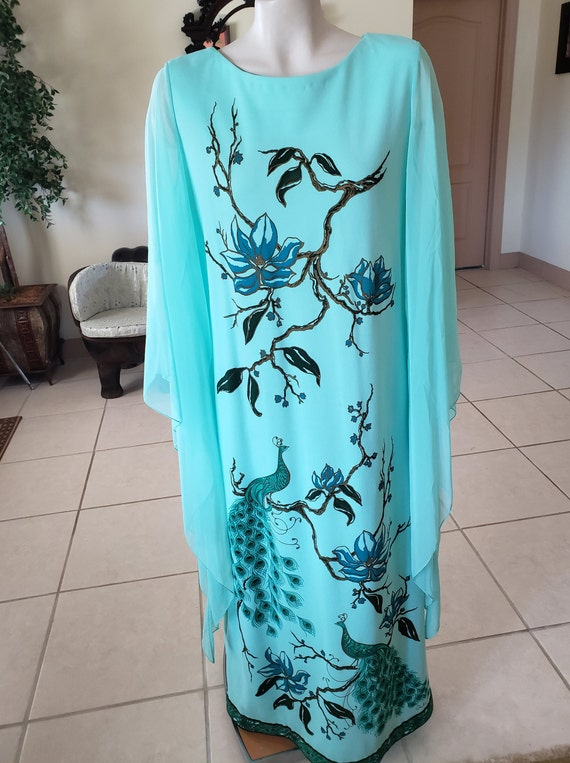 Alfred Shaheen Vintage 1960s Maxi Dress - image 2