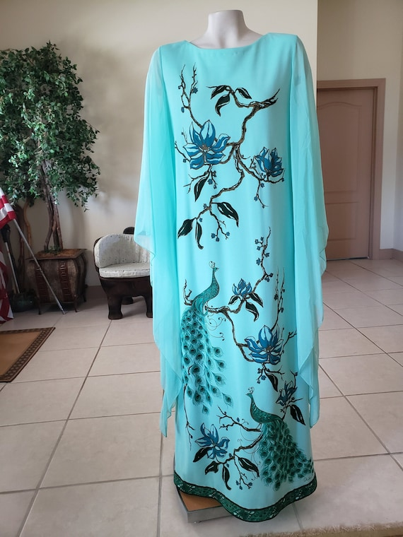 Alfred Shaheen Vintage 1960s Maxi Dress - image 1