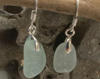 Seaglass Earrings Sterling Silver