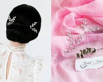 Set of Bridal hair pins, Rhinestones Hair pins, Bridal headpiece, bridal hairpiece, bridal hair comb