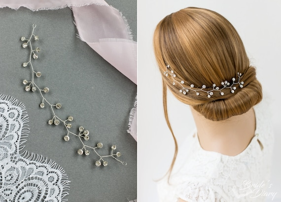 aperçu de matériaux de qualité supérieure style roman Postiche mariée, vigne de cheveux courts, accessoires pour cheveux, parure  de tête de mariage