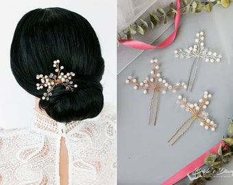 Color choice: Bridal hair pins,