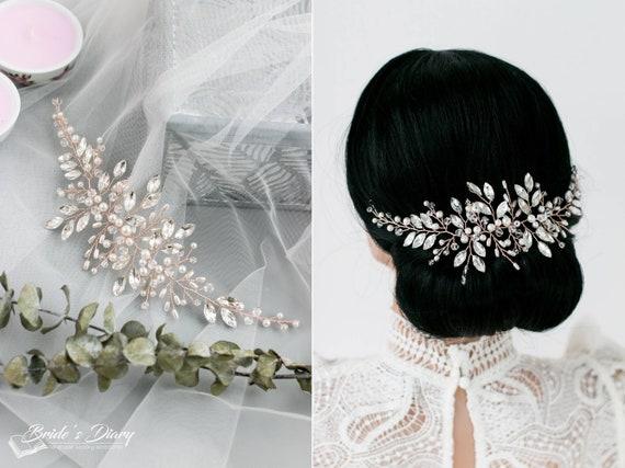 Haarreif Haarschmuck Kopfschmuck Haarreifen Perlen Transparent Haar