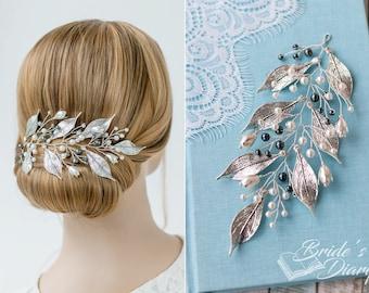 Wedding hair jewelry, bridal hair vine in vintage look, wedding hairpiece, bridal accessoires, bridal accessories