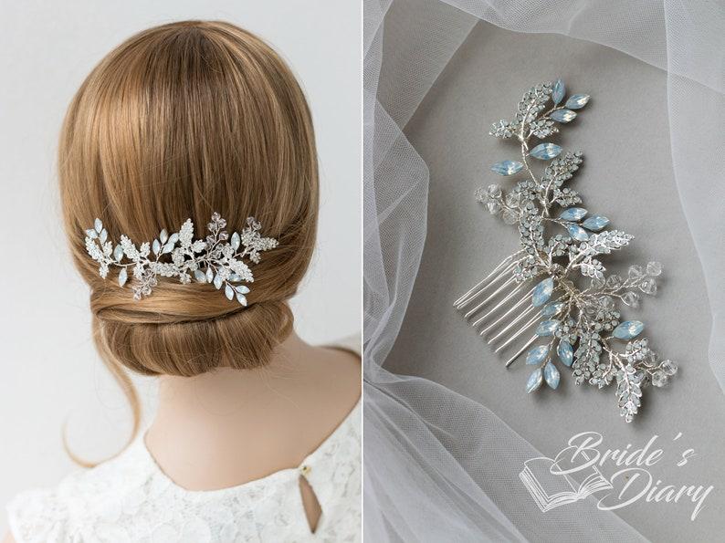 bridal hair accessories silvery vintage bridal hair comb with rhinestones Wedding hair jewelry