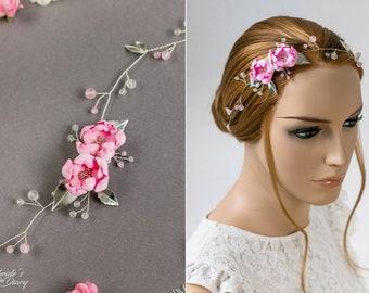 Wedding hair jewelry, bridal hair vine with flowers in vintage look, wedding hairpiece, bridal accessoires, bridal accessories