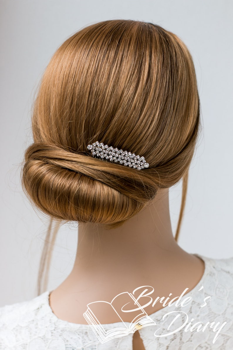 wedding hair accessories Wedding hair jewelry small bridal hair comb small rhinestones bridal hair comb