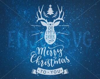 Christmas Antler Svg Etsy
