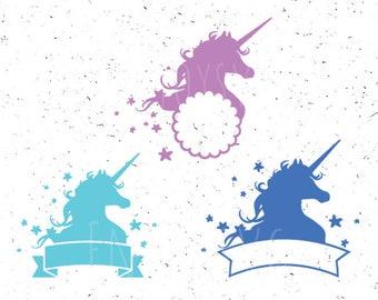 Unicorn svg Unicorn Girl svg Unicorn svg file Birthday Girl