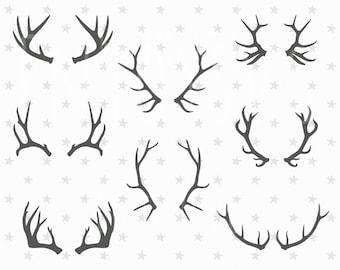 Deer Horn SVG Deer Horn SVG Collection Antler SVG Antler Svg Clipart Horn svg Files for Silhouette Cameo or Cricut Svg files Cutting File