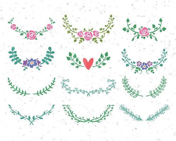 Floral Svg Florale Ornamente Svg Blumen Clipart Svg Hochzeit Etsy