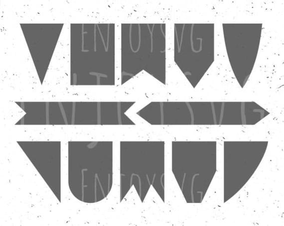 Bunting Svg Banners Bunting Svg Banner Svg Flags Elements Svg Etsy