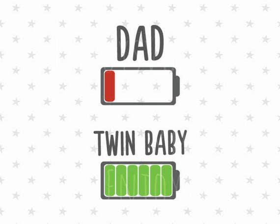 Low Battery Svg Twins Svg Tired Dad Svg Low Battery Dad And Etsy