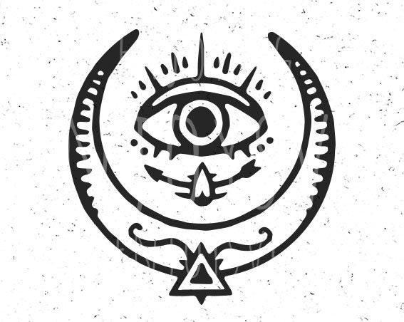 Moon Svg File Egypt Eye Moon Esoteric Svg Gothic Svg Moon