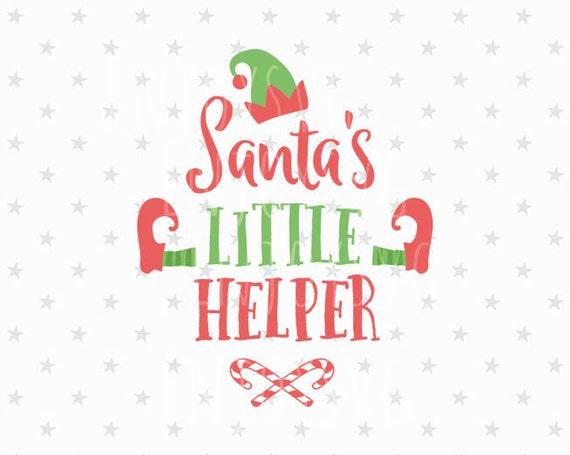 Santa S Little Helper Svg Santa S Helper Svg Elf Svg Etsy