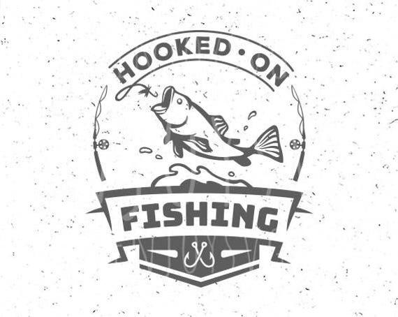 Download Fishing Svg Hooked On Fishing Svg Fishing Svg File Hook Svg Etsy