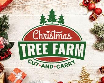 Christmas tree farm SVG, Christmas tree farm svg file,Christmas tree svg ,Christmas SVG, cricut svg file Christmas Svg Cut File Silhouette