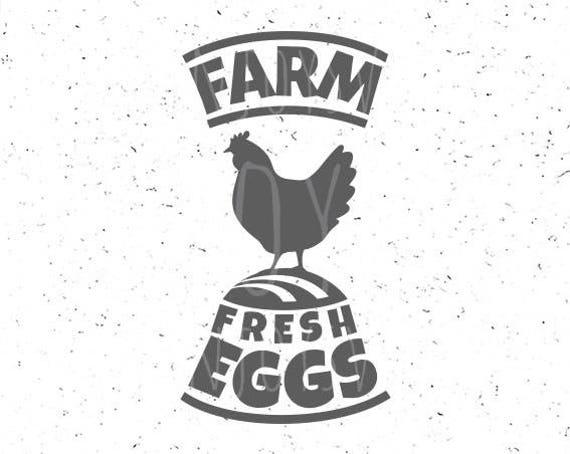 Farm Fresh Eggs Svg File Farm Svg Farm Fresh Eggs Svg Farm Svg Etsy