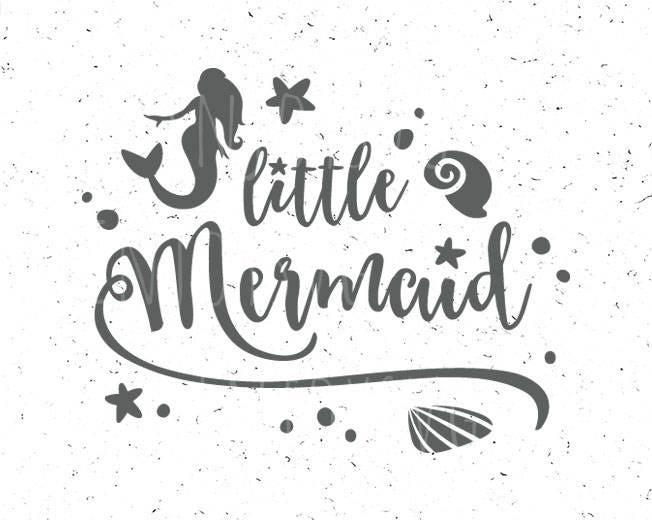 Pequeña sirena SVG archivo svg SVG sirena Sirenita bebé sirena | Etsy