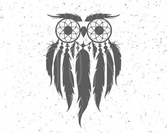 Dream Catcher Owl Svg Dreamcatcher Svg Owl Svg Dreamcatcher Etsy
