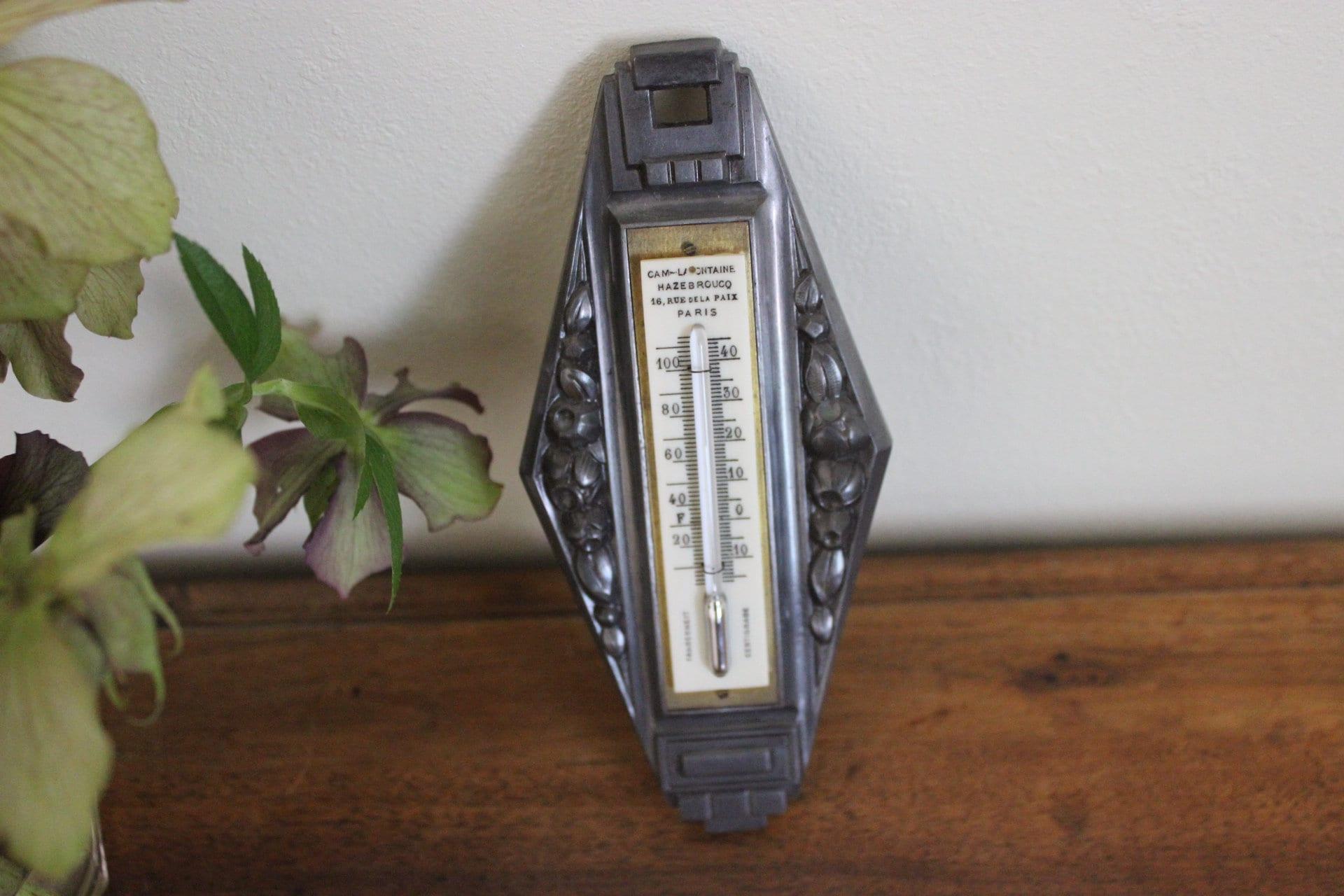 Rue De La Deco old mercury thermometer-art deco