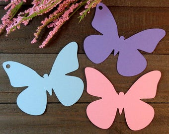 Die Cut Butterfly Tags Spring Wedding Decor Paper Butterflies Cardstock Butterfly Gift Tags Wedding Butterflies Set of 24 Butterflies