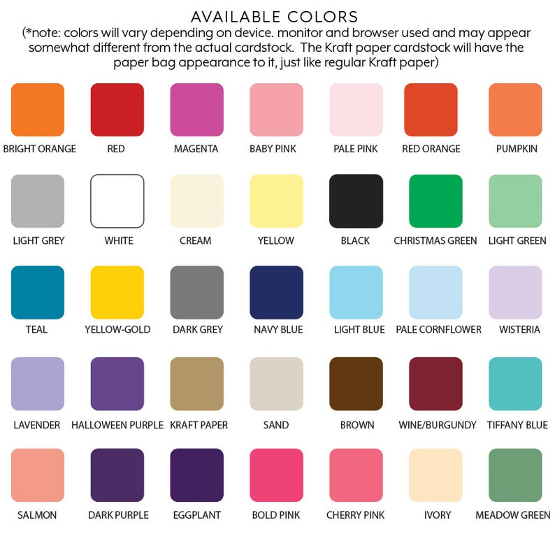 Color Square Cardstock Tags Die Cut Squares Paper Gift Tags Set of 40 Paper Squares 12 Sizes Choose Style