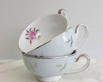 Vintage Tea Cups - Fine China Teacup - Bella Maria Tea Cups - Porcelain Tea Cups - Seyei Tea Cups - Rose Tea Cups - Seyei Fine China
