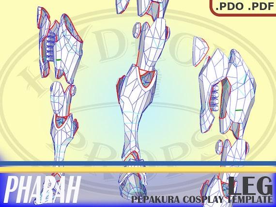 stile distintivo disponibilità nel Regno Unito sconto più basso Cosplay Overwatch Pharah gambe Pepakura .pdo File