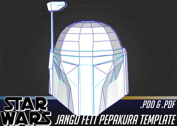 Cosplay Star Wars Jango Fett Helmet Pepakura Pdo File Etsy