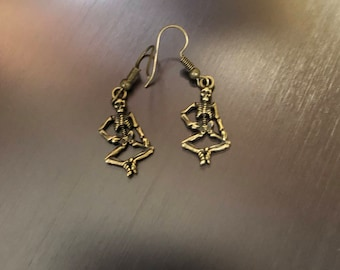 Grateful Dead skeleton earrings