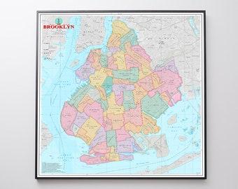 BROOKLYN Neighborhoods Map