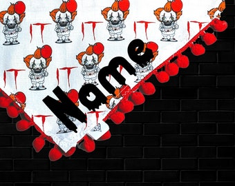 Personalized IT Dog Bandana Halloween Dog Bandana Pennywise Dog Bandana Over the Collar Dog Bandana Cat Bandana