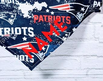 Personalized New England Patriots Bandana Patriots Football Over the Collar Dog Bandana Cat Bandana