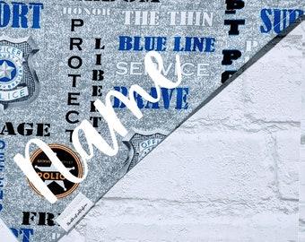 Personalized Police Bandana Thin Blue Line Bandana Police Support Over the Collar Dog Bandana Cat Bandana
