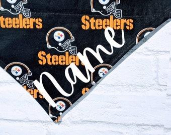 Personalized Pittsburgh Steelers Bandana NFL Bandana Football Bandana Steelers Over the Collar Dog Bandana Cat Bandana
