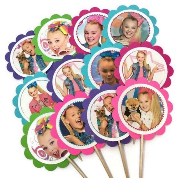 Jojo Siwa Cupcake Toppers Or Party Tags 12 Birthday