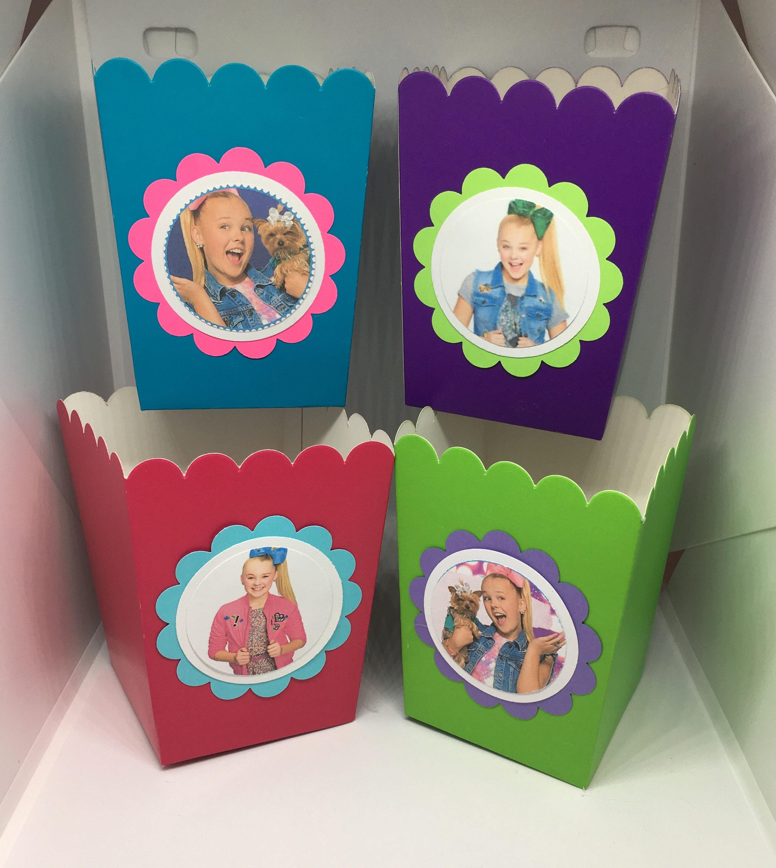 10 Jojo Siwa Birthday Boxes Jojo Siwa Popcorn Boxes Jojo Siwa Party Boxes Candy Boxes Snacks Boxes Goodie Bags Party Favor Bags