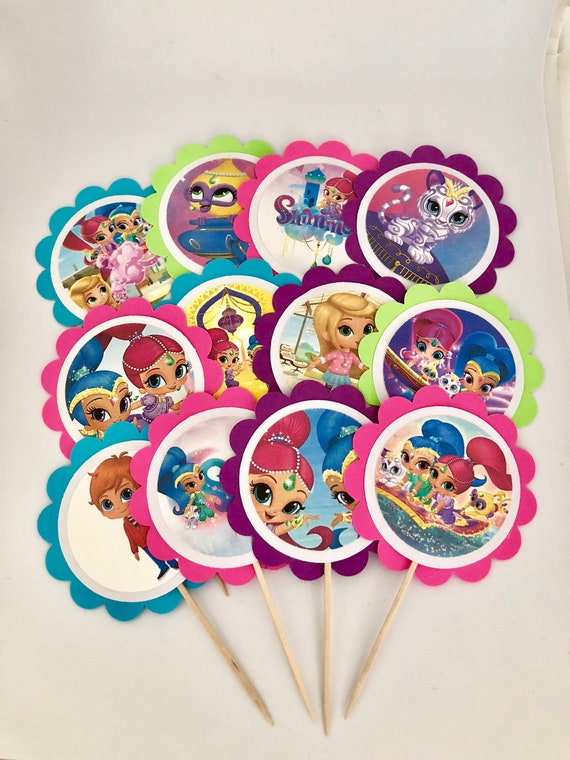 12 Shimmer And Shine Birthday Decor Party