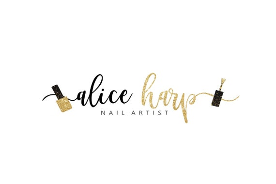 Nail Logo Design Nail Polish Logo Manicure Logo Nail Salon Etsy