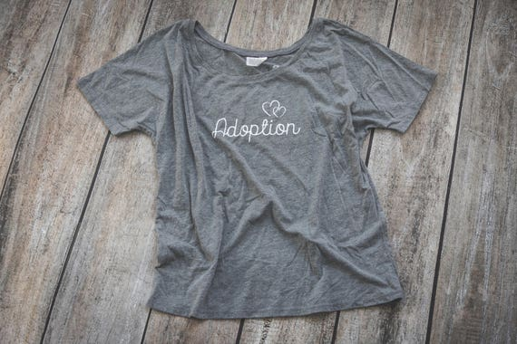 Adoption T-Shirt Womens Adopt