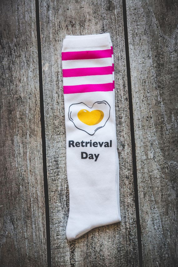 IVF Egg Retrieval Day Socks Infertility