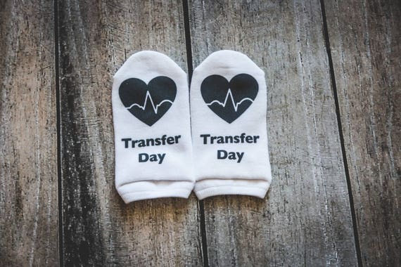Transfer Day Socks, IVF Socks, Infertility