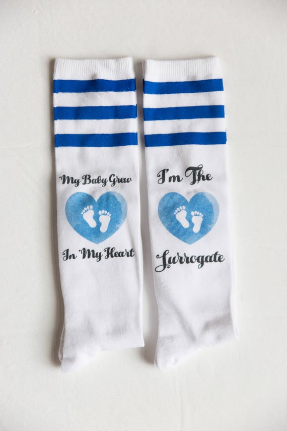 Surrogacy Socks, IVF Socks, IUI Socks, My Baby Grew In My Heart Set