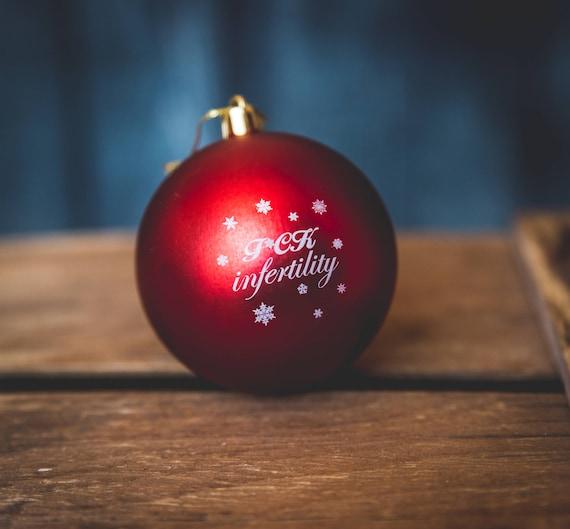 Infertility Christmas Ornament Gift