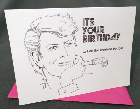 January 8th David Bowie Born On Your Birthday Card Etsy