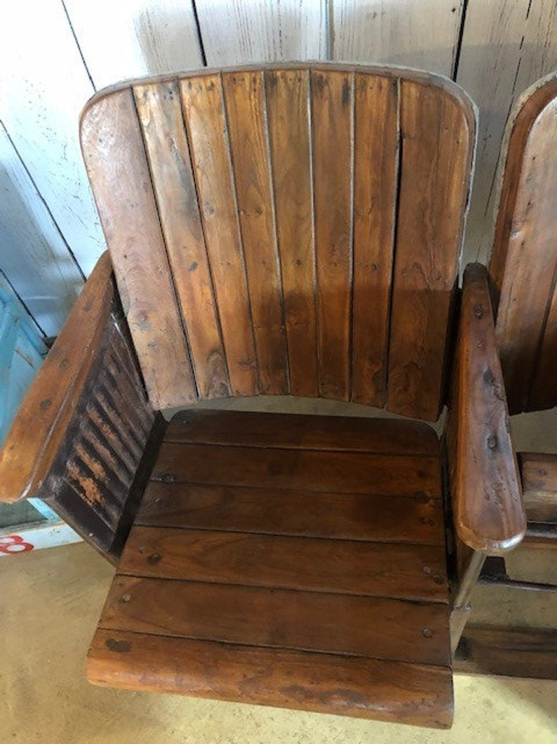 Man Cave Rustic Vintage Look Reclaimed Wood Theater Seats Farmhouse Entryway Kids Room Decor