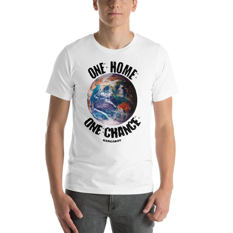 EARTH White Unisex T-Shirt image 0